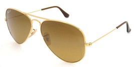 Nuovo Ray Ban Aviator RB3025 001/M2 58mm Oro W/Marrone Gradiente - $195.72