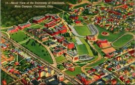 Vtg Lin Postale Université De Cincinnati Ohio Oh Aerial View Principal C... - $5.94