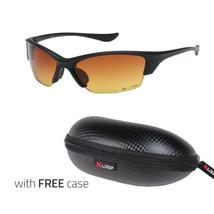 HD+ Vision High Definition Wrap Around Men Women Sport Sunglasses Matte Black - $9.99