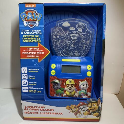 Nick Jr. Paw Patrol Digital Alarm Clock with Night Light USB Charging Port  - $15.99
