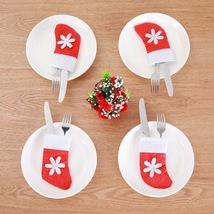Mini Christmas Stockings Dinnerware Cover Xmas tree decorations Party Or... - $4.00