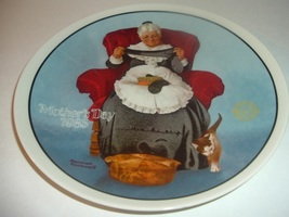 1985 Norman Rockwell Mothers Day Mending Time Plate - $14.99