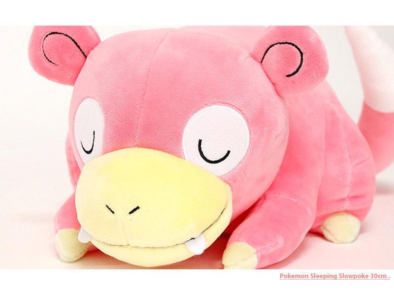 Pokemon XY Cushion Plush Doll Slowpoke Length 30 cm Pillow Toy Pikachu Soft Gift