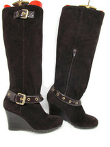 MICHAEL Michael Kors Womens Soft Suede Brown Boots Size 6 M - £35.04 GBP