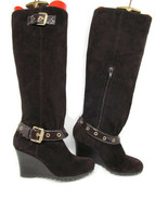 MICHAEL Michael Kors Womens Soft Suede Brown Boots Size 6 M - $43.65