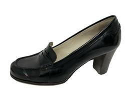 MICHAEL Michael Kors women's shoes loafer heels black size 10M - $31.56