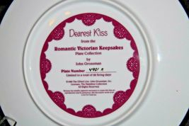 "1992 ""Dearest Kiss"" Commemorative Plate by John Grossman AA20-CP2311 Vintage Rom image 4"