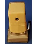 RARE VINTAGE Pencil Sharpener Metal Steel Hand Crank Hunt Mfg VACUUMETTE - $14.84