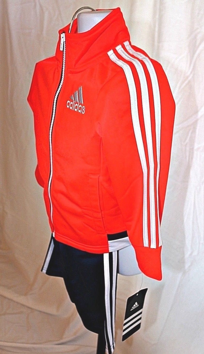 5a0917073aec44 New boys Adidas 18 months warm up track suit pants zip up jacket blue orange