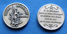St. Michael Military Pocket Coin with a St. Michael Magnet and two prayer cards - $12.95