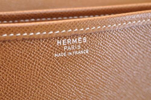 HERMES Christine Shoulder Bag Leather Brown Auth 5676 image 10