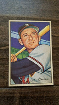 1952 BOWMAN BASEBALL CARD SID GORDON BOSTON MILWAUKEE BRAVES NEW YORK GI... - $7.99