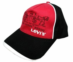 NEW LEVI'S RED TAB MEN'S PREMIUM CLASSIC COTTON BASEBALL HAT CAP RED ONE SIZE image 1