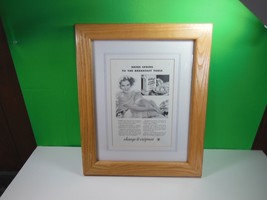 1934 Bring Spring To The Breakfast Table Kellogg's Corn Flakes Cereal Art Ad - $29.40