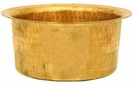 Kitchen Utensil Brass Patila Tope Cooking Topia Bhaguna Pot Pan Capacity... - $78.20