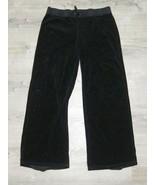 SUPER RARE Y2K Vintage Juicy Couture Black Velour Sweat Pants PLUS SIZE ... - $81.43
