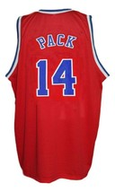 Robert Pack #14 Washington Retro Basketball Jersey Sewn Red Any Size image 2
