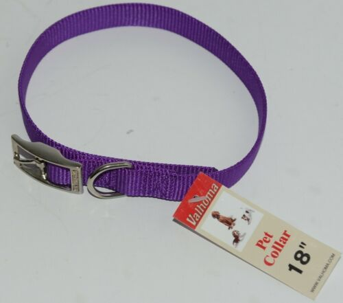 Valhoma 730 18 PR Dog Collar Purple Single Layer Nylon 18 inches Package 1