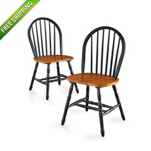 Better Homes and Gardens Autumn Lane Windsor Chairs Set of 2 Farmhouse B... - $103.00
