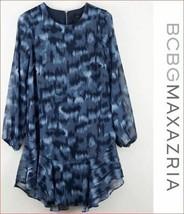 new BCBG MAXAZRIA women dress blouse TKN6243109-411 032019 blue XS MSRP - $49.74