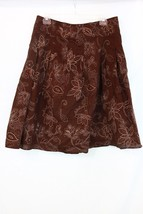 Apt 9 Skirt Brown Floral Embroidered Full Modes... - $8.37