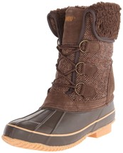 Khombu Womens Brown Herringbone Winter Snow Duck Boots 7 B(M) US NWOB NEW - $99.99