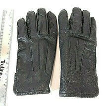 Mens Black Soft Leather Gloves 3M Thinsulate Insulation - $13.06