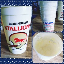 NEW Sealed 1983 Birmingham Stallions USFL Football Plastic Cup Set of 6 ... - $55.17