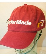 TaylorMade R7 Burgundy Red Maroon White embroidered Dad Golf strapback C... - $17.95