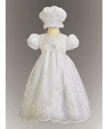 Precious Baby Girls White Embroidered Christening Boutique Dress/Bonnet ... - $49.99