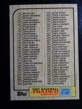 1987 Topps Traded #132T Unmarked Checklist Baseball Card - $1.00