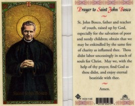 Prayer to Saint John Bosco - EB128 - Father Teacher of Poor and Needy Ch... - $2.79
