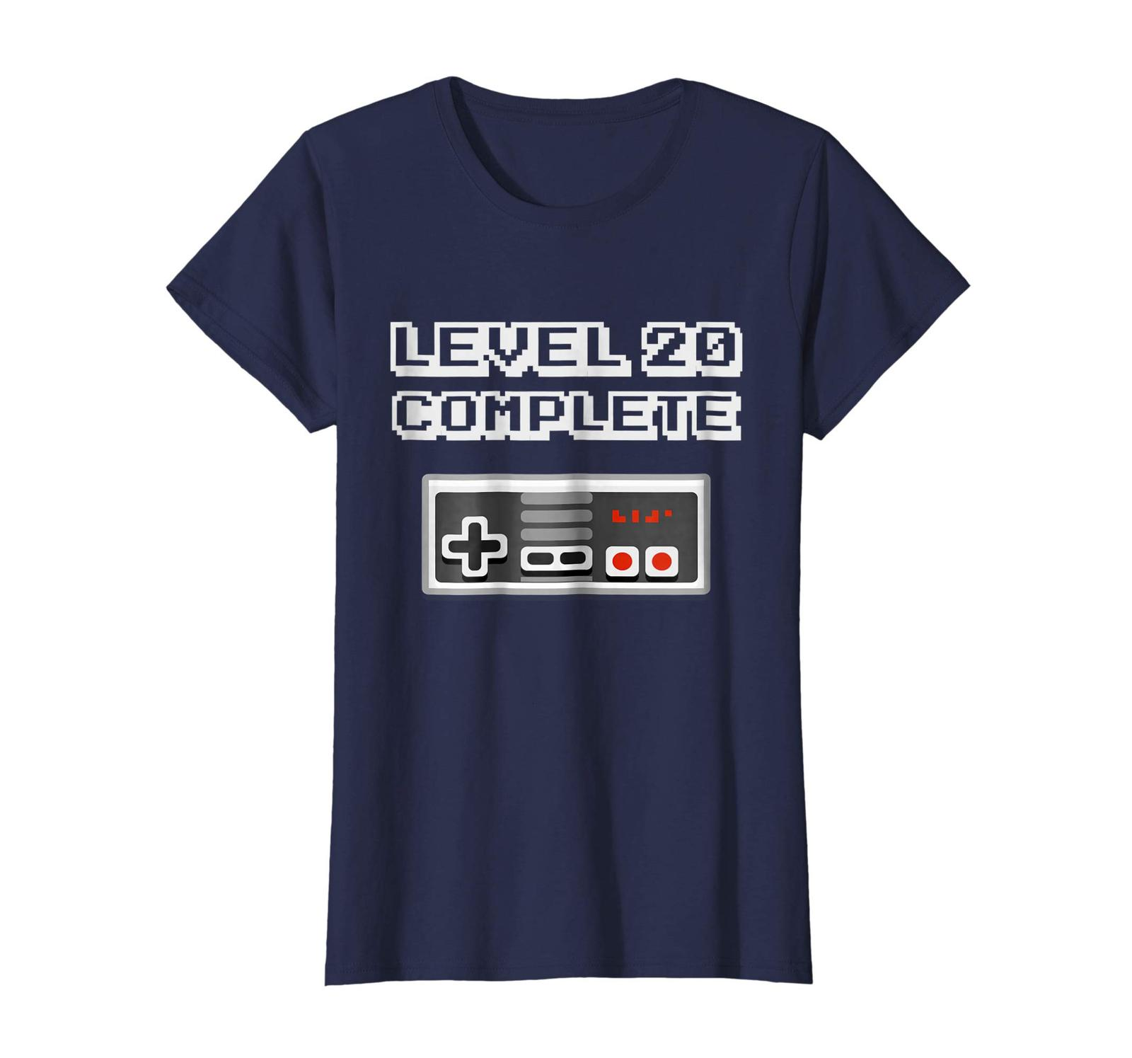 New Shirts - Level 20 Complete Retro Video Gamer 20th Birthday Gift Shirt Wowen image 4