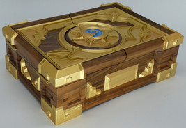 Hearthstone Box Replica Solid Walnut Wood Carving Gift Carved Box  - $1,190.00