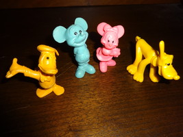 4 Disney Rubber Figures Mickey Mouse / Minnie / Pluto / Donald Duck Vintage - $10.00
