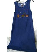 70's 80's ~Embroyered Women's Bobby Brooks Blue Denim Dress~Size 8/10 Me... - $13.99