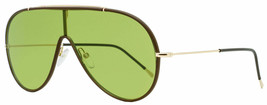 Tom Ford Shield Sunglasses TF671 Mack 48N Brown/Gold 137mm FT0671 - $589.05
