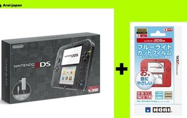 Nintendo 2ds Game Console clear black + Film blue light cut HORI Japan - $145.52