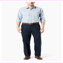 Dockers Men's Straight leg Flat-front styling Wrinkle-resistant Relaxed Pants - $14.07