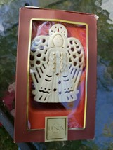 Lenox Bright Christmas Angel Votive Candle Holder Porcelain Gold Accents - $24.74
