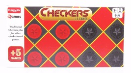 Funskool Checkers +5 Games Board Game 2 Players Indoor Game Age 7+ - $15.16