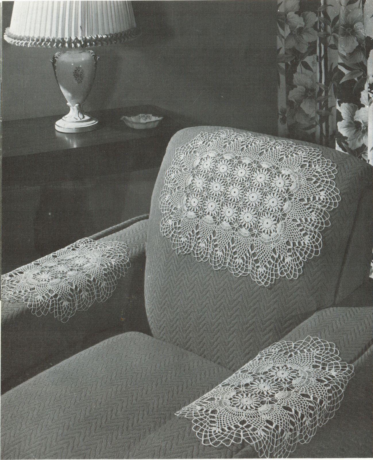 Pineapple Doilies Tablecloth Runner Luncheon Buffet Armchair Crochet Patterns  image 10