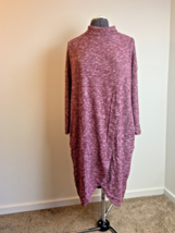 Duster Turtleneck Pocket Jersey Knit Fall Lightweight Sweater Tunic, PE - $19.99