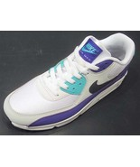 Nike Air Max 90 Essential White/Black-Jade-Purple AJ1285-103  - $122.00