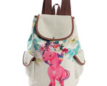 Horse printed backpack female linen drawstring school bag for teenage girls travel thumb155 crop