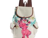 Horse printed backpack female linen drawstring school bag for teenage girls travel thumb155 crop