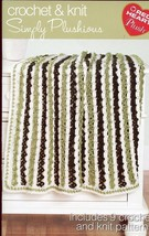 Simply Plushious Crochet/Knit Afghan Socks Scarf Pattern Booklet NEW - $2.67