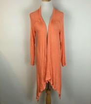 Francesca's Birdcage Anthropologie Women's Orange Cardigan Sweater Size ... - $15.83