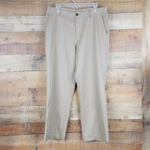 Adidas Climalite Golf Pants Mens Size 34x32 Beige EUC YY8 - $19.79
