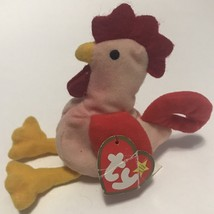 Ty Teenie Beanie Babies Strut The Rooster 1993 Retired, EUC w/ Tags - $7.99